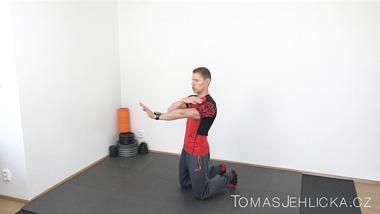 První posilovací trénink s Tomášem