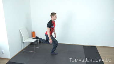 Třetí posilovací trénink s Tomášem