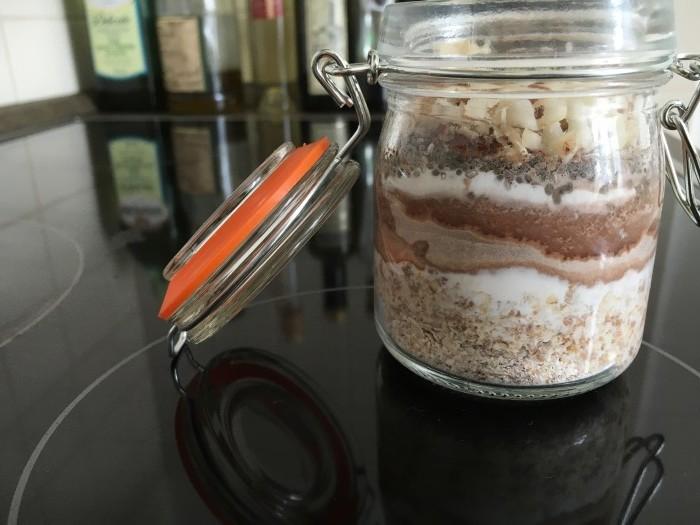 Vločky s para ořechy a kakaem