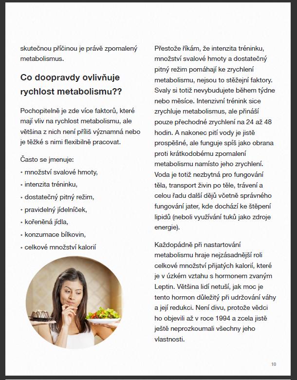 E-kniha 7 důvodů, proč nespalujete tuk - Rychlost metabolismu