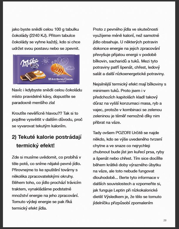 E-kniha 7 důvodů, proč nespalujete tuk - Konzumujete tekuté kalorie
